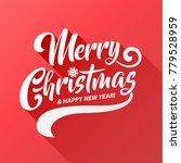 merry christmas vector text...   Shutterstock .eps vector #779528959