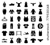 clothing icons. set of 36... | Shutterstock .eps vector #779530168