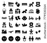 child icons. set of 36 editable ... | Shutterstock .eps vector #779530264