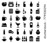 drink icons. set of 36 editable ... | Shutterstock .eps vector #779530294