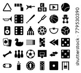 play icons. set of 36 editable... | Shutterstock .eps vector #779530390