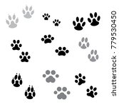 paw graphic dog stamps | Shutterstock .eps vector #779530450