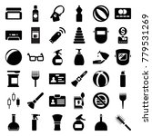 plastic icons. set of 36... | Shutterstock .eps vector #779531269