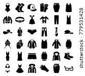 wear icons. set of 36 editable...   Shutterstock .eps vector #779531428