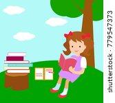 cartoon kid reading book | Shutterstock .eps vector #779547373