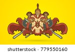 group of spartan warriors ... | Shutterstock .eps vector #779550160