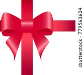 red ribbon with bow isolated | Shutterstock .eps vector #779563624