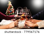group of friends having drinks... | Shutterstock . vector #779567176