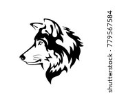 wolf head vector | Shutterstock .eps vector #779567584