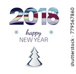 creative happy new year 2018... | Shutterstock .eps vector #779567860