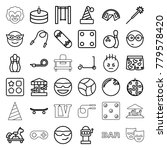 fun icons. set of 36 editable