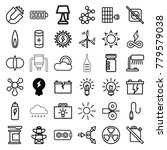 energy icons. set of 36... | Shutterstock .eps vector #779579038