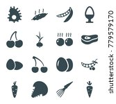 raw icons. set of 16 editable... | Shutterstock .eps vector #779579170