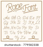 rope font. set  alphabet... | Shutterstock .eps vector #779582338