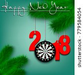 happy new year and numbers 2018 ...   Shutterstock .eps vector #779584054