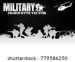 military silhouettes vector on...   Shutterstock .eps vector #779586250