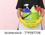 charwoman with cleaning... | Shutterstock . vector #779587738