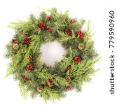 christmas coniferous wreath | Shutterstock . vector #779590960