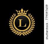 letter l crown logo vector | Shutterstock .eps vector #779597659