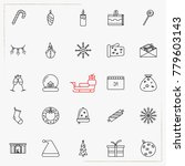 set of vector thin line icons... | Shutterstock .eps vector #779603143