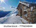 Old Mountain Hut In The Italia...