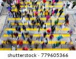 busy pedestrian crossing at...   Shutterstock . vector #779605366