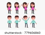 cute little kids vector... | Shutterstock .eps vector #779606860