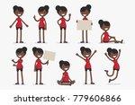 set of female character in... | Shutterstock .eps vector #779606866