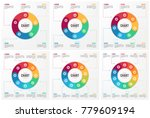 vector circle chart infographic ... | Shutterstock .eps vector #779609194