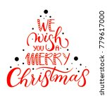 red post card we wish you a... | Shutterstock .eps vector #779617000