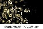 abstract chaos structure golden ... | Shutterstock . vector #779625289