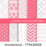 ten different seamless patterns.... | Shutterstock .eps vector #779630008