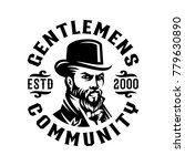 genltemen victorian label logo... | Shutterstock .eps vector #779630890
