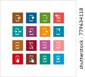 phone icon. flat vector icon set   Shutterstock .eps vector #779634118