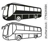 bus illustration outline and... | Shutterstock .eps vector #779634484