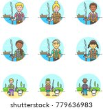 lifestyle  multicolor icon set | Shutterstock .eps vector #779636983