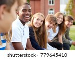 group of teenage students... | Shutterstock . vector #779645410