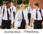 group of teenage students in... | Shutterstock . vector #779645416
