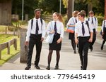group of teenage students in... | Shutterstock . vector #779645419