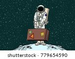 astronaut traveler with travel... | Shutterstock .eps vector #779654590