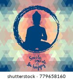 poster with buddha silhouette... | Shutterstock .eps vector #779658160