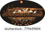 siberian white crane near the... | Shutterstock .eps vector #779659834