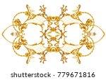 baroque composition with golden ... | Shutterstock . vector #779671816