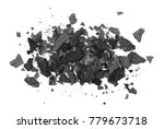 pile charcoal isolated on white ... | Shutterstock . vector #779673718