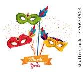 mardi gras masks | Shutterstock .eps vector #779674954