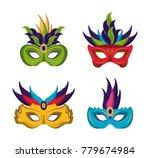 mardi gras masks icons | Shutterstock .eps vector #779674984