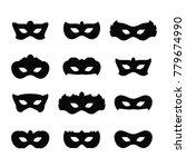 mardi gras masks icons | Shutterstock .eps vector #779674990