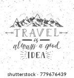 sketch of mountain. vector hand ... | Shutterstock . vector #779676439