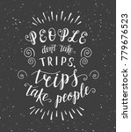 travel. vector hand drawn... | Shutterstock . vector #779676523