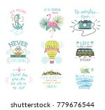 set of summer hand lettering... | Shutterstock . vector #779676544